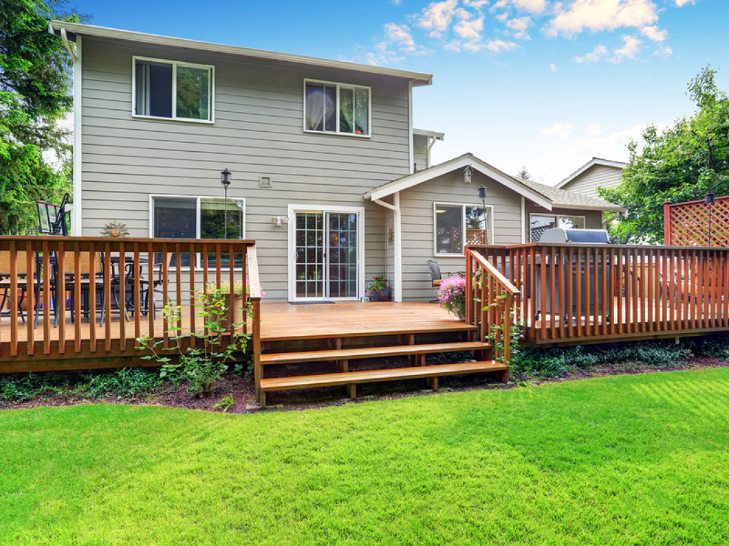 What are the benefits of installing a deck?